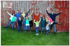 #Family Photography #Barn, large group photography