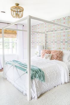 A little girl bedroom makeover with a butterfly theme full of thrifty makeovers, DIYable projects, and Anthropologie style knock-offs. Bedroom Sets, Girls Bedroom, Bedroom Decor, Design Bedroom, Dream Bedroom, Master Bedroom, Childrens Room, Butterfly Bedroom, Butterfly Theme Room