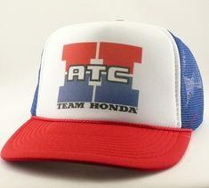5fe92458f72 Honda ATC hat Trucker hat mesh hat snapback hat new adjustable pick color  Vintage style Team Honda hat