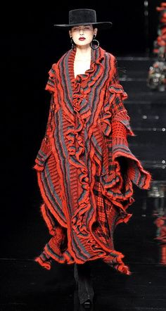 Kenzo - fun flamenco-looking/inspired ruffles!