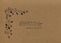 Winston Churchill Quote Made on Typewriter by FlightOfFancyPrints