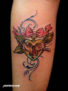 K Heart Tattoo ... heart locket tattoos heart lock tattoo designs heart tattoo tattoo