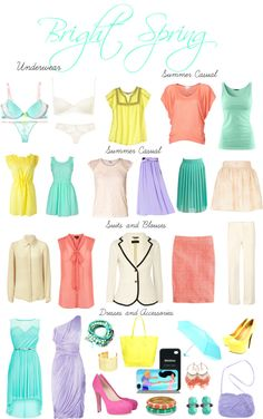 """Bright Spring Lights"" by sabira-amira ❤ liked on Polyvore"