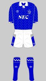 EVERTON FC FOOTBAL KIT - FA CUP FINAL 1989 - EVERTON FC V LIVERPOOL FC
