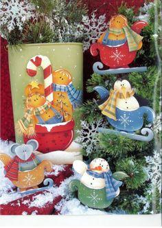 Moldes Country Navidad a pedido de Monik! - manosalaobratv