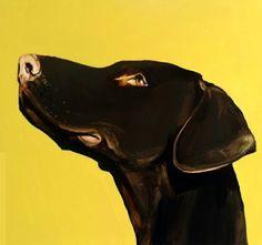 """Pop Dog,"" Ian Healy (Irish), Oil on paper, 48 x 45 cm."