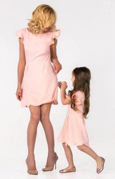 Vestidos de melocotón que madre y yo hija madre y por dressionate