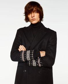 MANTEL MIT ETHNOMUSTER Zara Mode, Mantel, Christmas 2016, Coat, Jackets, Image, Fashion, Woman Clothing, Clothing Accessories