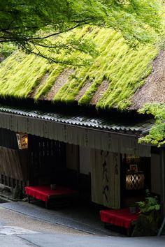 Traditional Japanese Tea House, probably Torii-Moto, Saga-Arashiyama, Kyoto