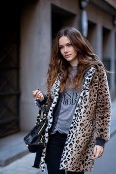 Leopard-print jacket #STORETS #Inspiration #Streetstyle