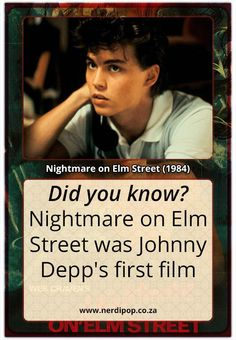 We are kicking off Nerdipop's Halloween countdown with none other than the movie that started the first appearance of the man of your dreams, Freddy Krueger . Johnny Depp Characters, Sweeney Todd, Nightmare On Elm Street, Great Movies, Love Of My Life, Actors & Actresses, Knowing You, Movie Tv, Fun Facts