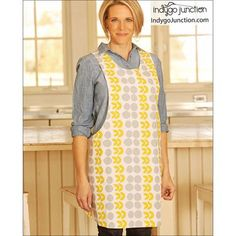 Crossback Reversible Apron sewing pattern by Indygo Junction Child Apron Pattern, Vintage Apron Pattern, Aprons Vintage, Vintage Sewing, How To Make Aprons, Diy Fashion Accessories, Fashion Jewelry, Sewing Aprons, Diy Crafts For Gifts