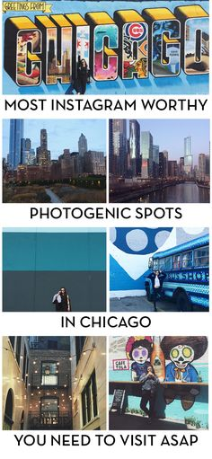 top ten cities for 2017 most instagram-worthy photogenic spots in chicago that you need to visit asap. Visiting Chicago? Live in Chicago and need to refresh your instagram page? Check out this post about all of the amazing photogenic places in Chicago, like street art, murals, sightseeing, beautiful views and more!
