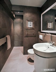 Master Bathroom Ideas shower tucked behind back wall.... No glass needed so easier to keep clean??