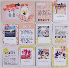 Project Life: Week 4-2014. I used Dear Lizzy Polka Dot Party! LOVE this collection!