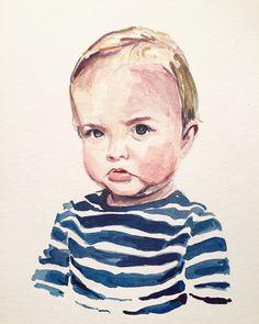 Children's Portrait in Watercolor.