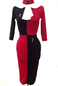 Harley Quinn-inspired Dress, DC Comics $75 via Etsy #Cosplay #Comicon