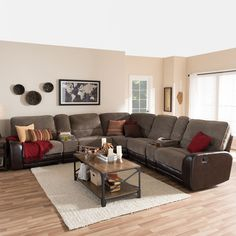 Tyson Microfiber Reclining 3 Piece Sectional Set Ping The Best Deals On Sofas Our New Living Room