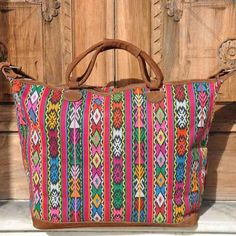Our Guatemalan weekenders are beautiful and authentic and will add a pop of color to any outfit.