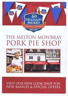 D&M #porkpies Melton Mowbray Pork Pie, Pie Shop, British Isles, Pop Tarts, Ireland, Snack Recipes, Food And Drink, Amp, Snack Mix Recipes