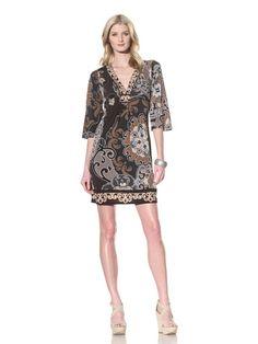 72% OFF Hale Bob Women\'s V-Neck Dress (Neutral)