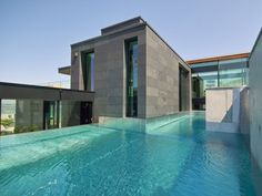 Triple Pool with Waterfall – Modern Single Family Home by Simmengroup Swimming Pool Design Modern Single Family Home by Simmengroup