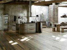 keuken industrieel jos inspriatie RVS met bakstenen wand Door smulsposa