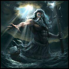 01/26 Bampre / Fantasia-Sci-Fi _ 052. Neptuno, Dios romano equivalente al Poseidón de los grigos.