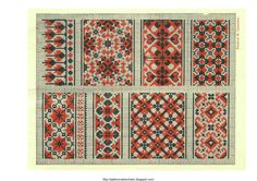 Free Historic Old Pattern Books: Ukrainian Embroidery 1930 - a lot of old embroidery books, with free links