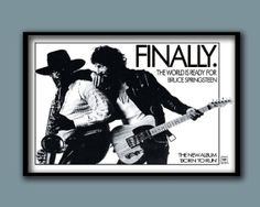 Bruce Springsteen  1975 Born To Run Promo Poster  60 x40 cms