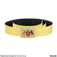 Manx coat of arms belt