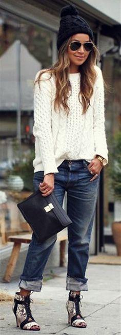 beanie+ sweater