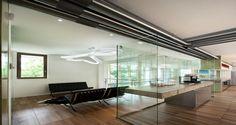 Área de descanso nos escritórios da Autodesk em Milão, Itália