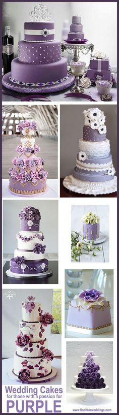 This months favorite purple wedding cakes « FindItforWeddings FindItforWeddings