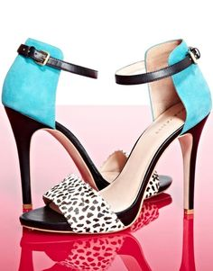 Blue + Polka Dot Heels - SO cUte