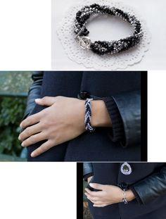 CL-MODE   Bracelet torsadé de chaines en perles crystal MILLA