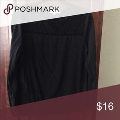 Loft long sleeve shirt Black long sleeve shirt with lace detail LOFT Tops