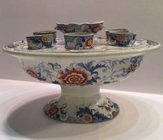 Antique Porcelain Egg Holder Cruet Warmer #eggcup #antique #imari