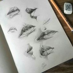 sketchbook-lips-study-sketch-sketching-sketchbook-paper/ - The world's most private search engine Lips Sketch, Drawing Sketches, Art Sketches, Animal Drawings, Pencil Drawings, Art Drawings, Drawing Art, Drawing Ideas, Drawing Step
