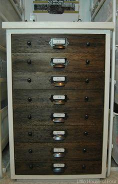 trash to treasure faux specimen cabinet 2 drawer file cabinet