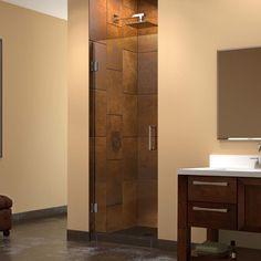 DreamLine Unidoor 24 in. x 72 in. Frameless Hinge Shower Door in Brushed Nickel-SHDR-20247210F-04 - The Home Depot
