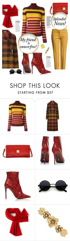 """Splendid News!"" by sara-cdth ❤ liked on Polyvore featuring Marni, Bottega Veneta, Dooney & Bourke, Kurt Geiger, Lacoste and Matthew Williamson"