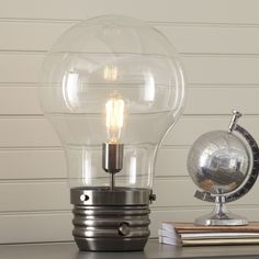 """Edison 18"""" Table Lamp with Globe Shade"""