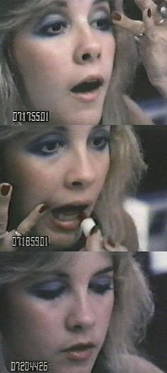 Stevie Nicks doing her makeup on the Rumours Japan Tour. None needed, actually.