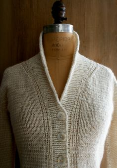 We love this jacket from the purl bee! Make you own in some DROPS Alpaca Silk and Merino Extra Fine! New Treeline StripedCardigan - The Purl Bee