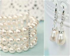 Bridal Jewellery SET Wedding Jewellery SET by SarahWalshBridal, $170.00