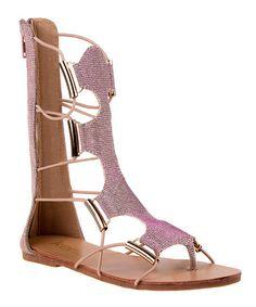 Look at this #zulilyfind! Pink Gladiator Sandal #zulilyfinds
