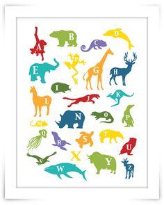 Gingered Things - DIY, Deko & Wohndesign: Tier-Alphabet