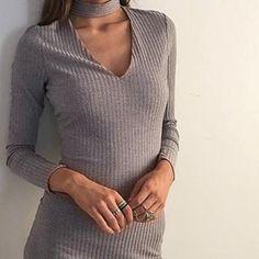 Beatrice kjole grå