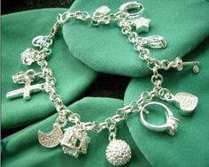 Free shipping fashion Bracelet,925 silver jewelry Bracelet.fashion jewelry Bracelet.silver Bracelet.wholesale price! RM01